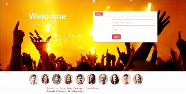 Bootstrap social Network Template Unique 15 social Network Bootstrap themes & Templates