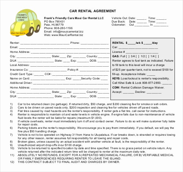 Borrowed Vehicle Agreement Template Best Of Borrowed Vehicle Agreement