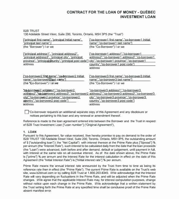 Borrowed Vehicle Agreement Template Lovely Sample Lending Contract format Loan Template Free Download