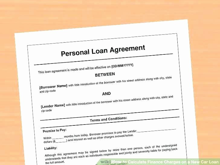 Borrowed Vehicle Agreement Template Unique Private Mortgage Agreement Template Free Templates