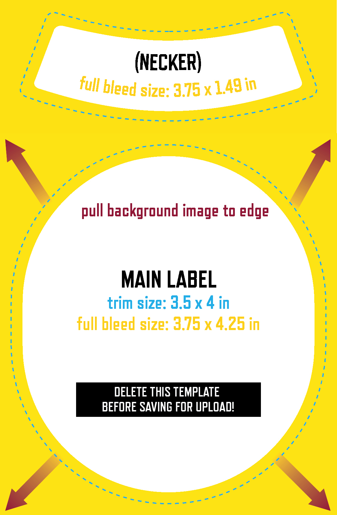 Bottle Label Template Free New Uploading Your Own Design Grogtag