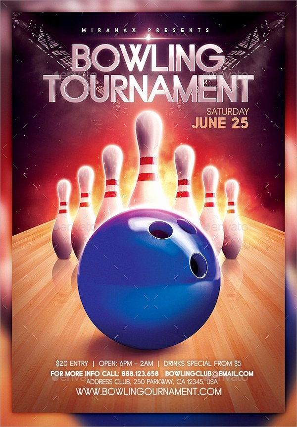 Bowling Flyer Template Free Awesome 23 Bowling Flyer Templates