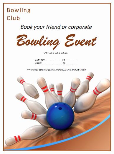Bowling Flyer Template Free Elegant Bowling Match Flyer Template Free Flyer Templates