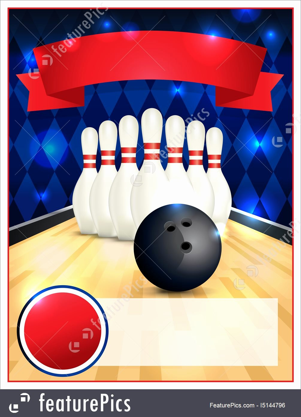 Bowling Flyer Template Free Fresh Blank Bowling Flyer Template Illustration