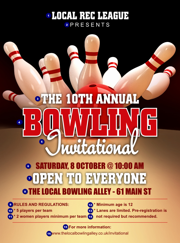 Bowling Flyer Template Free Inspirational Bowling League Flyer Ticket Printing