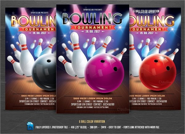 Bowling Flyer Template Free Lovely 16 Bowling Flyer Templates Free Psd Ai format Download