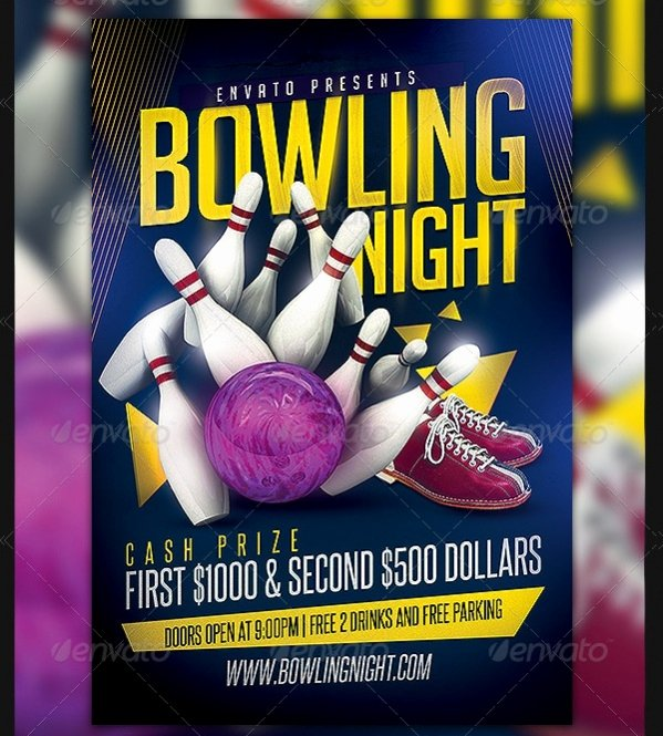 Bowling Flyer Template Free Lovely 20 Party Flyer Designs Psd Vector Eps Download