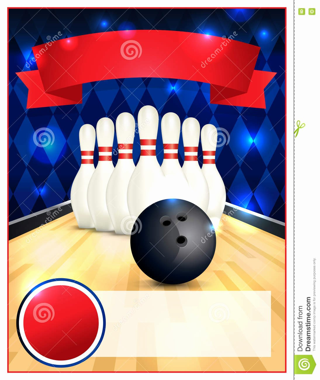Bowling Flyer Template Free Lovely Blank Bowling Flyer Template Illustration Stock Vector
