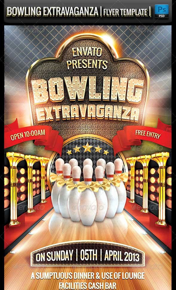 Bowling Flyer Template Free Luxury 25 Beautiful Premium Flyer Psd Templates Designmaz