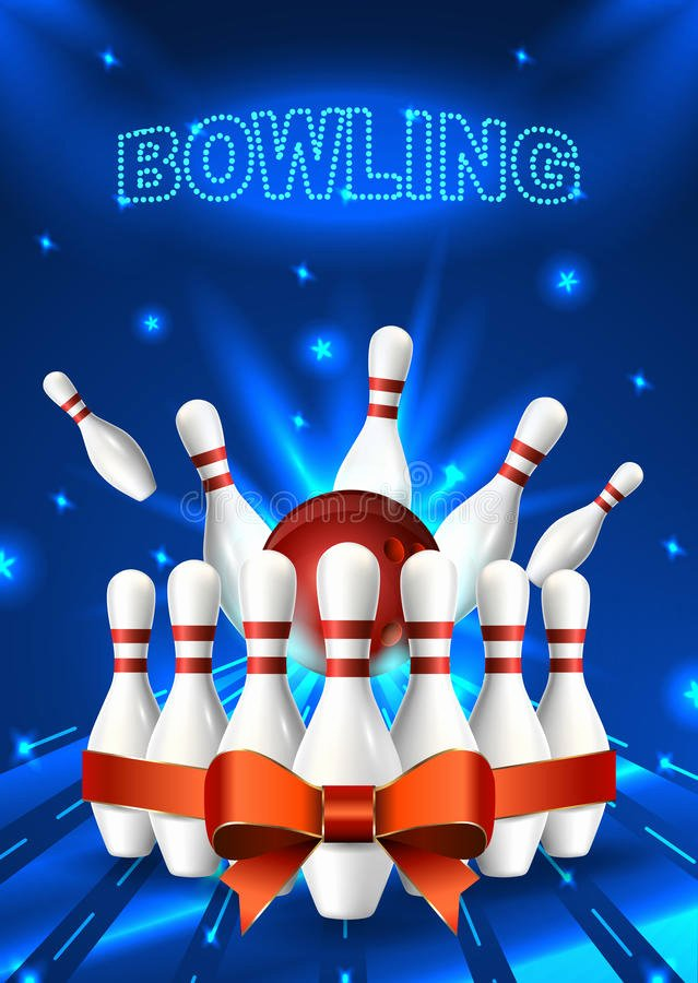 Bowling Flyer Template Free Luxury Bowling Flyer Template A6 format Size Vector Clip Art