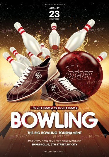 Bowling Flyer Template Free Luxury Bowling Psd Flyer Template Styleflyers