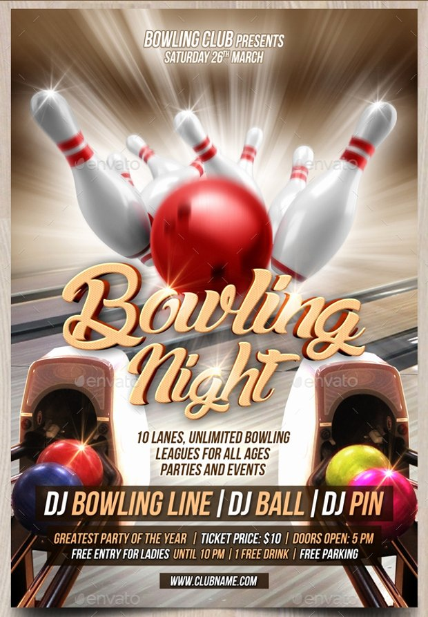 Bowling Flyer Template Free New 21 Bowling Flyer Designs Psd Download