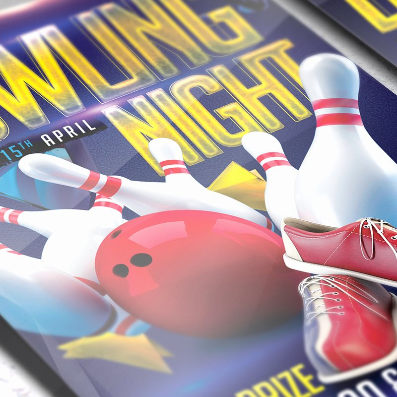 Bowling Flyer Template Free New Bowling Flyers Templates Free Yourweek 6310a8eca25e