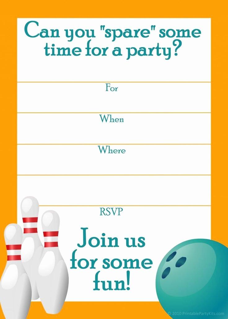 post blank printable bowling birthday invitations