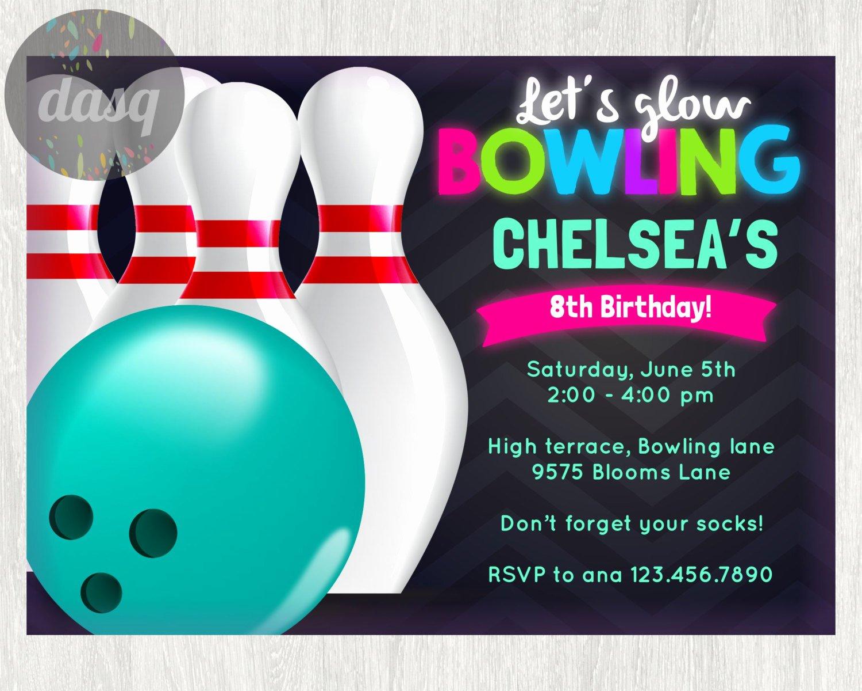 Bowling Invitation Template Free Fresh Free Printable Bowling Birthday Invitations