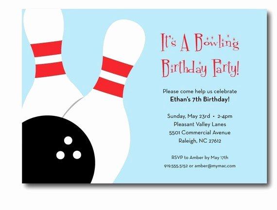 Bowling Invitation Template Free Luxury Free Printable Bowling Party Invitation Templates