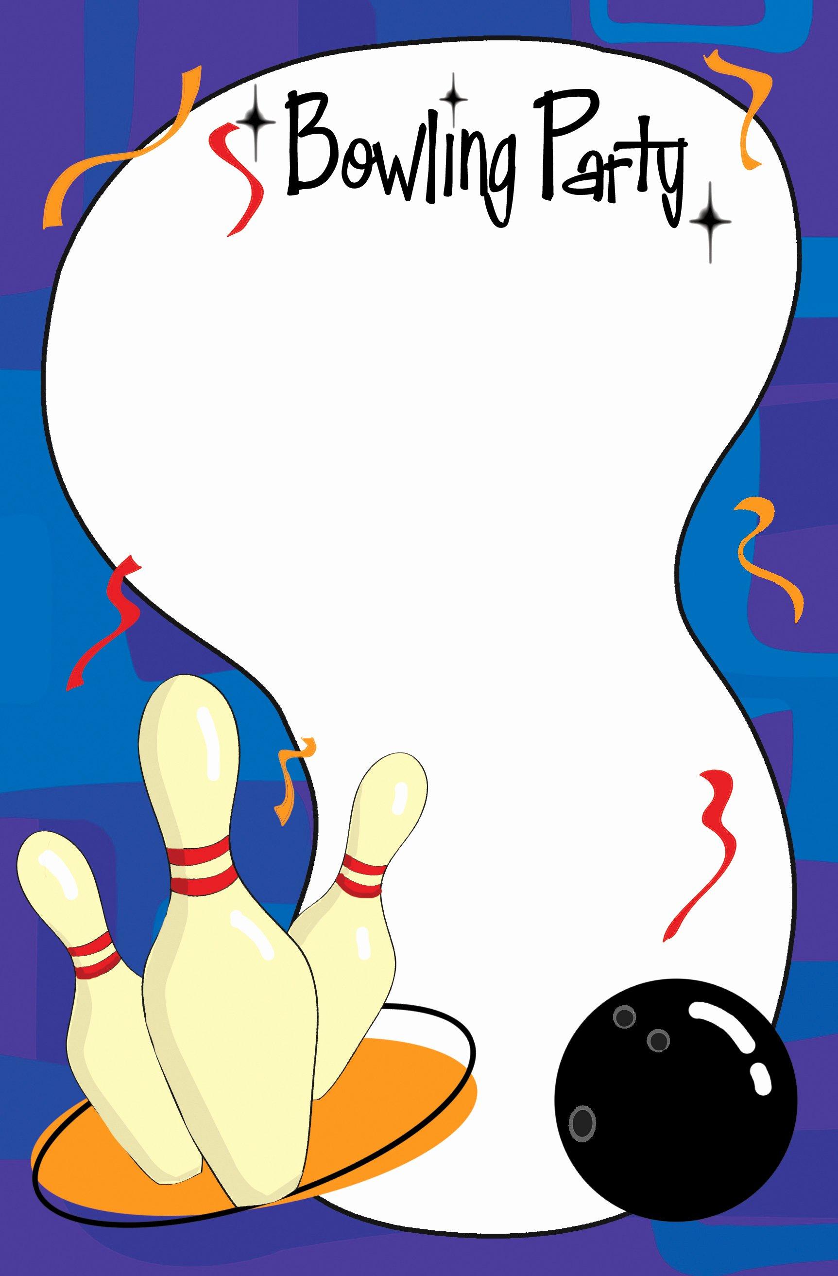 Bowling Invitation Template Free New Bowling Flyer Template Free Portablegasgrillweber