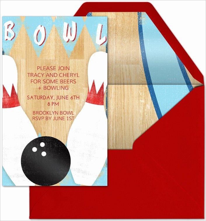 Bowling Invitation Template Free Unique 24 Outstanding Bowling Invitation Templates & Designs