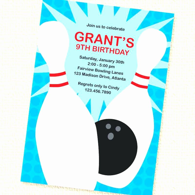 Bowling Party Invitation Template Awesome Bowling Birthday Invitations Invitation Templates Ten Pin