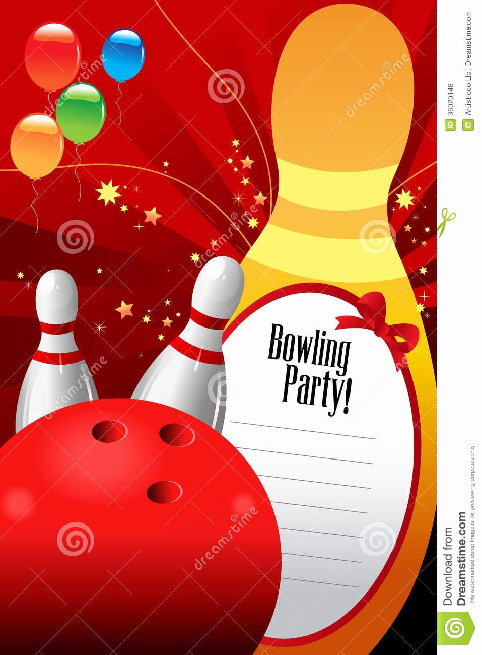 Bowling Party Invitation Template Awesome Free Bowling Invitation Template