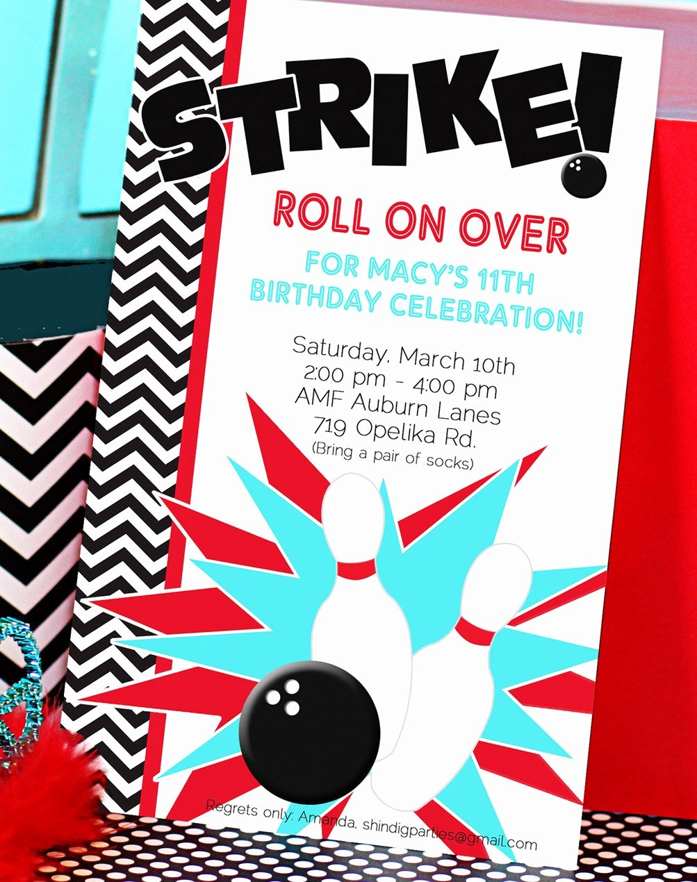 Bowling Party Invitation Template Beautiful Chandeliers & Pendant Lights