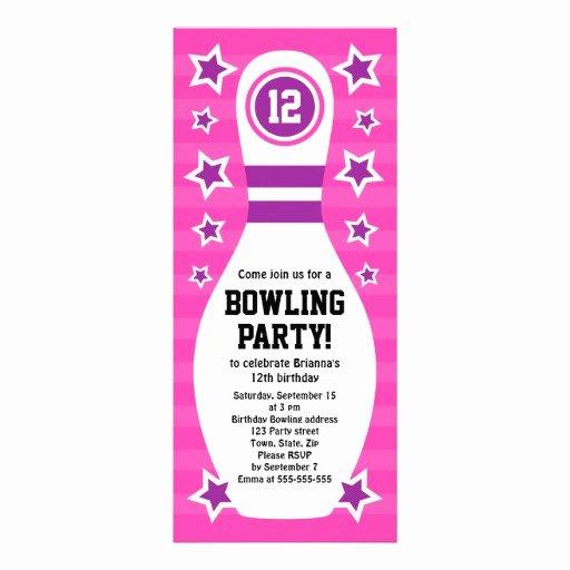 Bowling Party Invitation Template Beautiful Free Bowling Birthday Invitations