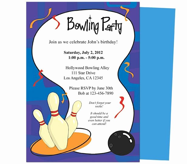 Bowling Party Invitation Template Beautiful It S A Bowling Birthday Invitations Template Printable