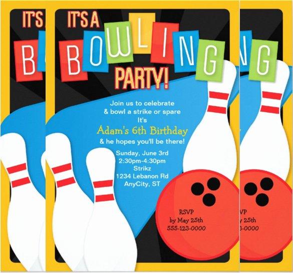 Bowling Party Invitation Template Elegant 21 Kids Invitation Templates – Free Sample Example