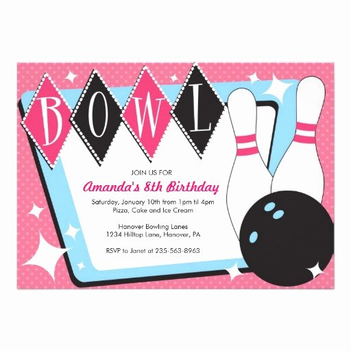 Bowling Party Invitation Template Fresh Free Bowling Birthday Party Invitations Template