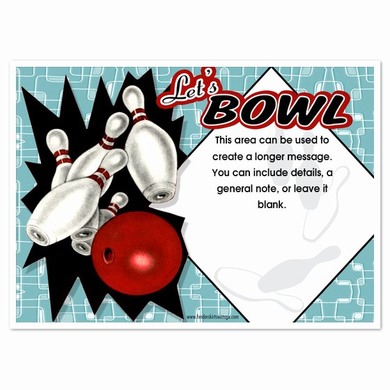 Bowling Party Invitation Template New 7 Best Of Bowling Party Invitations Printable