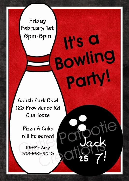 Bowling Party Invite Template Beautiful 1000 Images About Sam S Bowling Party On Pinterest