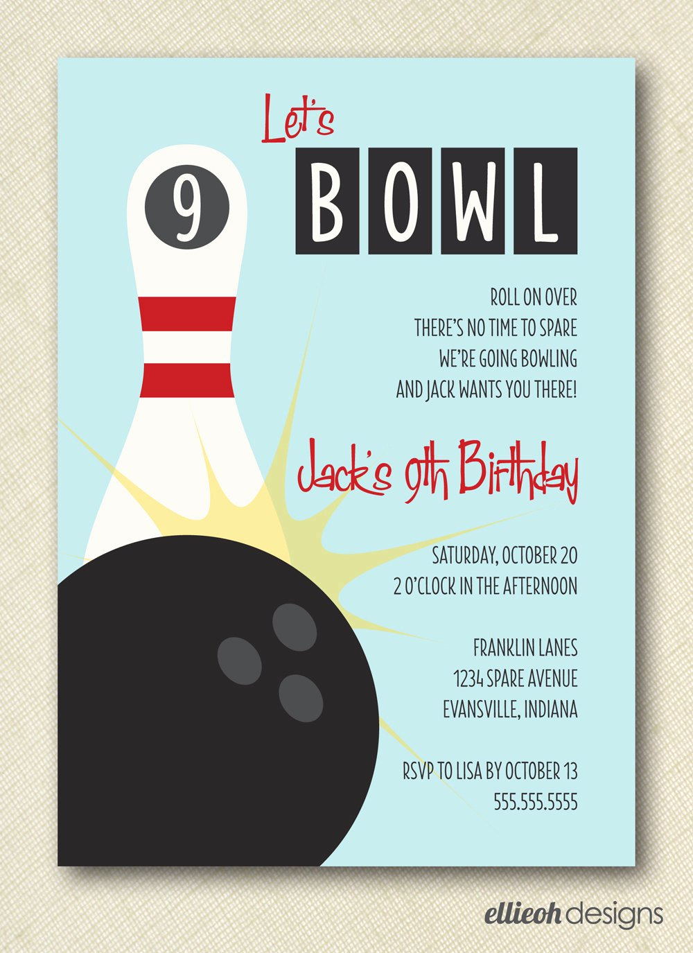 Bowling Party Invite Template Best Of 7 Best Of Bowling Party Invitations Printable
