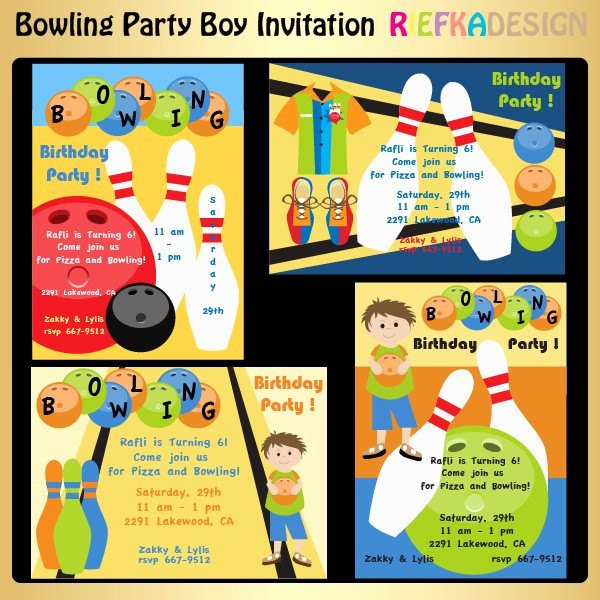 Bowling Party Invite Template Fresh Bowling Party Boy Invitation by Riefka On Etsy