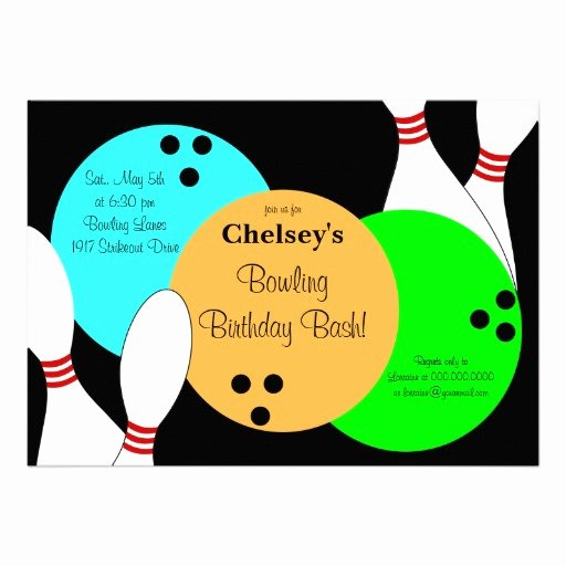 Bowling Party Invite Template New Custom Bowling Invitations 600 Custom Bowling Announcements