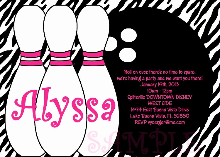 Bowling Party Invite Template New Free Printable Bowling Birthday Invitations