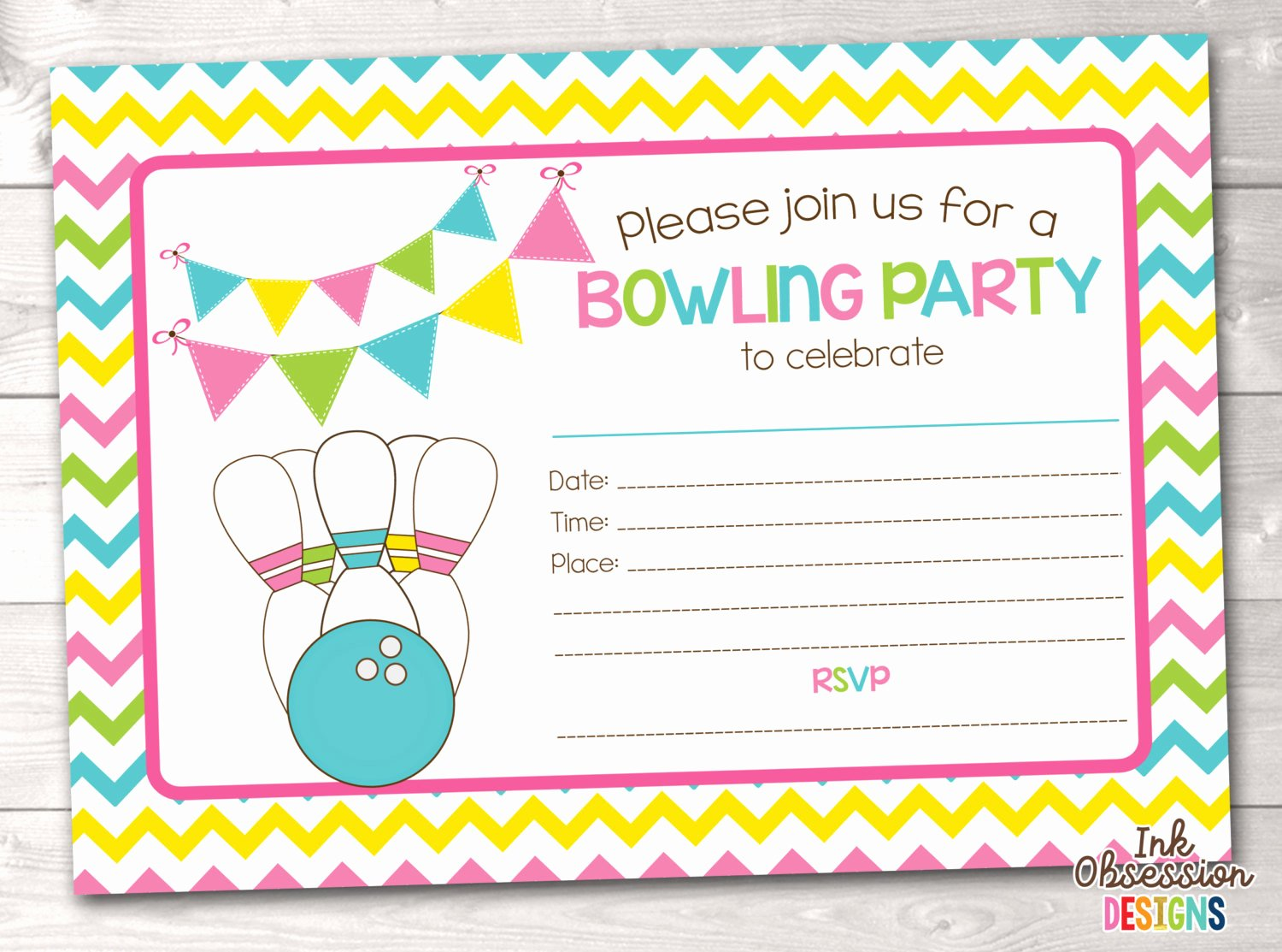 Bowling Party Invite Template Unique Bowling Party Blank Invitations