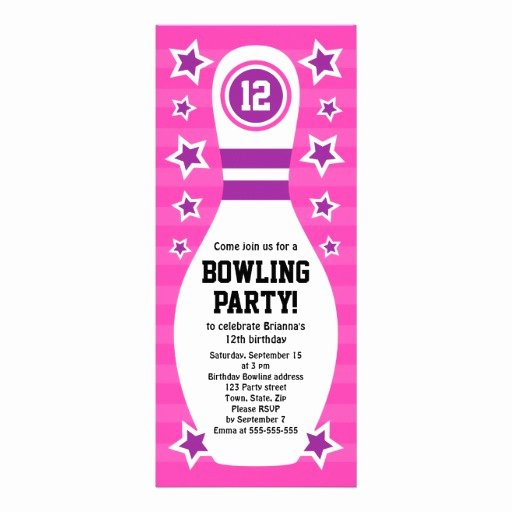Bowling Party Invites Template Awesome Free Printable Bowling Party Invitation Templates
