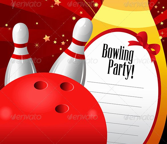 Bowling Party Invites Template Best Of 24 Outstanding Bowling Invitation Templates & Designs