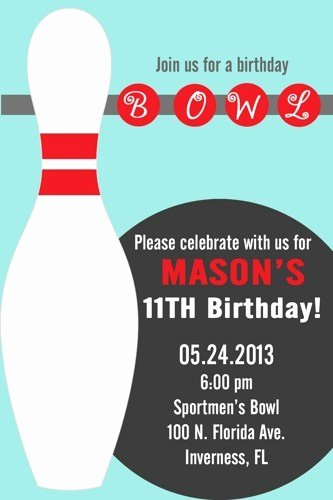 Bowling Party Invites Template Elegant Diy Printable Boy or Girl Bowling Party Invitations