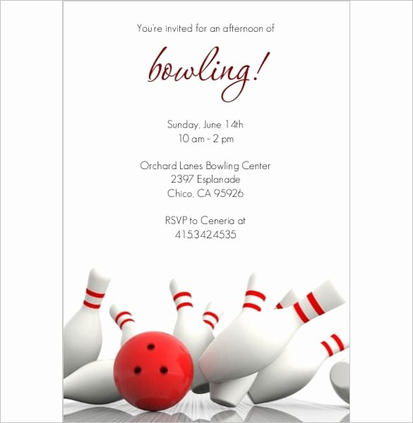 Bowling Party Invites Template Lovely Bowling Invitation Templates