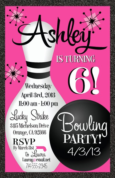 Bowling Party Invites Template Luxury Free Printable Bowling Birthday Invitations
