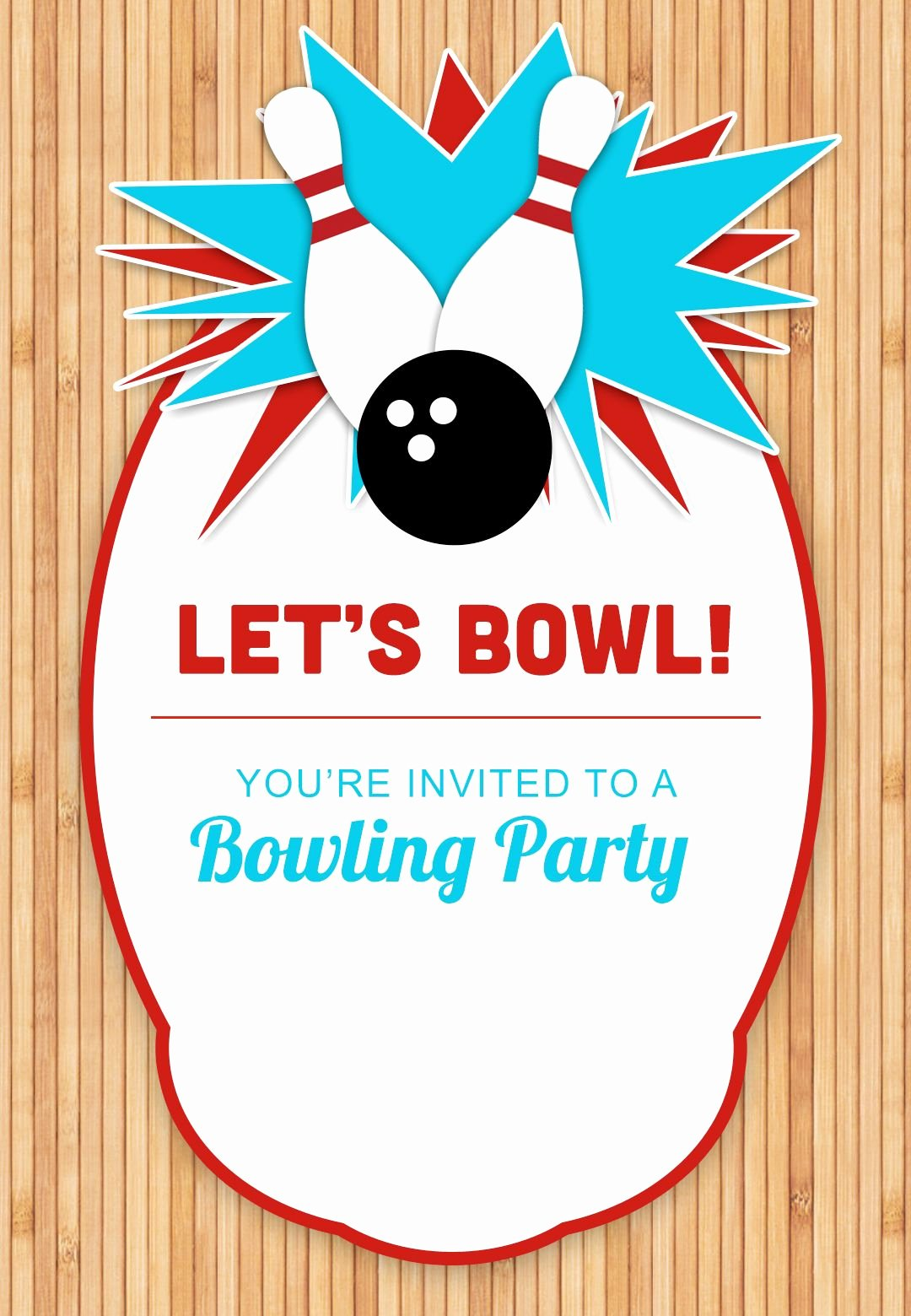 Bowling Party Invites Template New Bowling Party Free Printable Birthday Invitation
