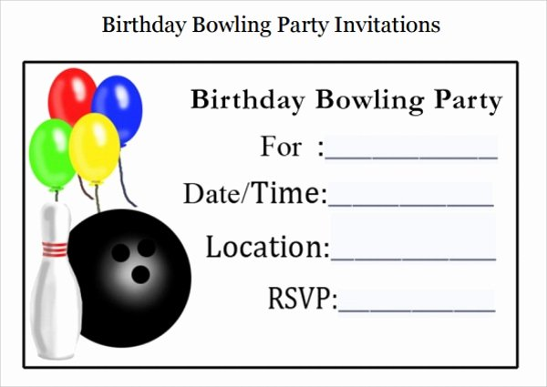 Bowling Party Invites Template Unique 10 Bowling Invitation Templates