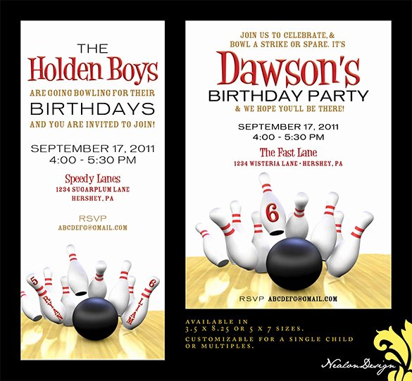 Bowling Party Invites Template Unique 24 Outstanding Bowling Invitation Templates & Designs