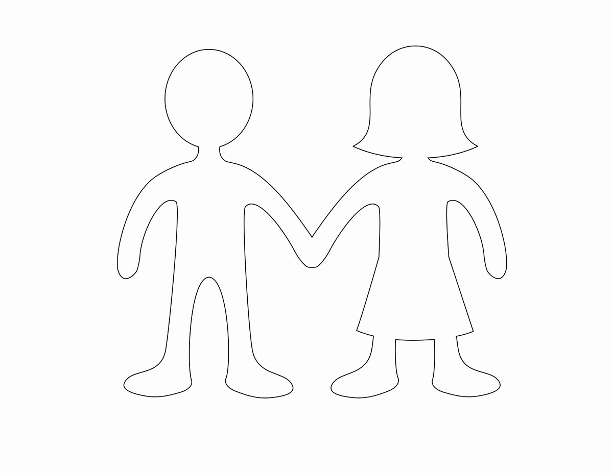 Boy and Girl Template Elegant Boy and Girl Templates Printable