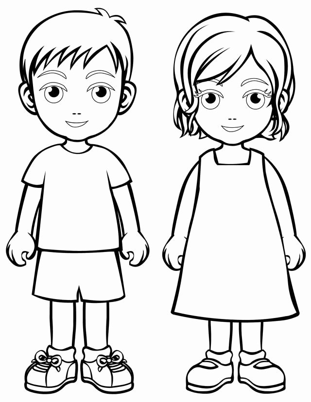 Boy and Girl Template Fresh Gallery Outline Boy and Girl Drawing Art Gallery