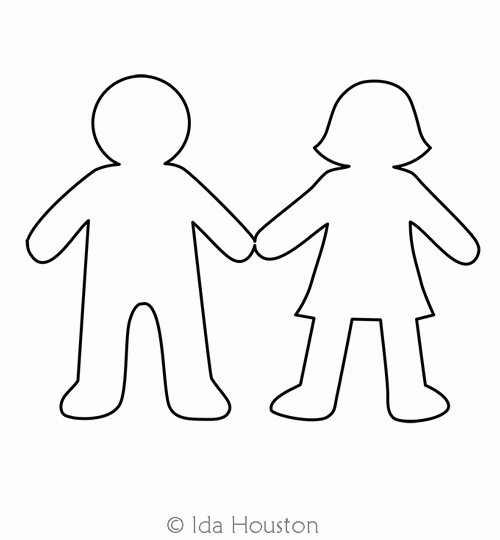Boy and Girl Template Fresh Paper Dolls Boy and Girl Motif Ida Houston