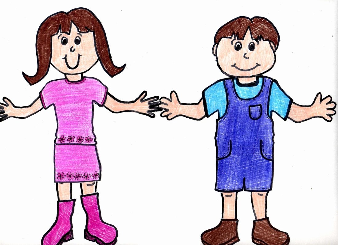 Boy and Girl Template Inspirational Paper Dolls with Clothes