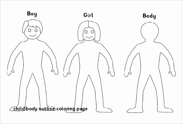 Boy and Girl Template Unique Child Body Outline Coloring Page Doll Template Best