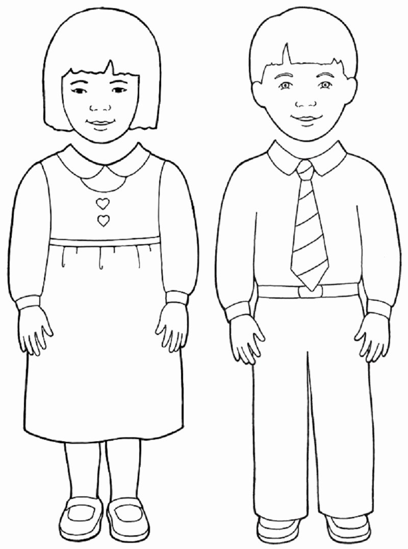 Boy and Girl Template Unique Obey Parents Free Colouring Pages